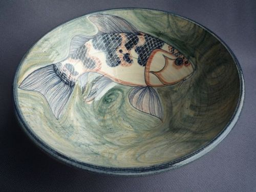 Adrian Brough Studio Ceramic Fish Bowl